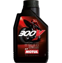 Huile MOTUL 300V 4T Factory Line Off Road 5w40 100 % Synthèse en 4 litres