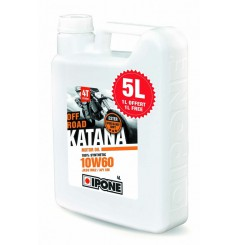 Huile IPONE 100 % Synthèse Katana Off Road 10w60 Spécial KTM/ HVA/ HSR/ WEBER en 5 Litres