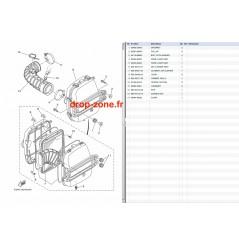 Filtre à air FX HO 09-20/ FX HO Cruiser 09-20/ VXR 11-19/ VXS 11-15/ VX Cruiser HO 16-20/ GP 1800R HO 20