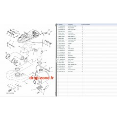 Echappement 3 FZR-FZS SVHO 14-16/ FZR-FZS SHO 12-13
