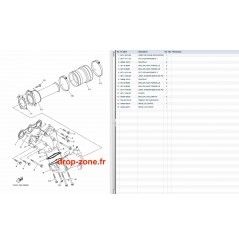 Echappement 1 V1 Sport 16/ VX Deluxe 16-19/ VX Cruiser 16-19/ VX 18-19