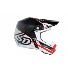 Casque cross 6D ATR-1 Electric Carbon White Red 18