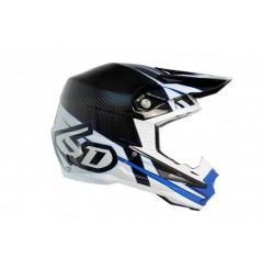 Casque cross 6D ATR-1 Electric Carbon White Blue 18