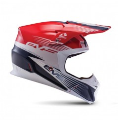 Casque Cross EVS T5 Works Red White Blue