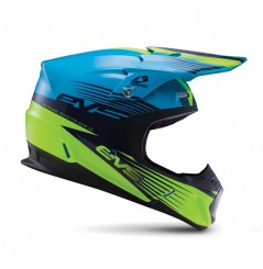 Casque Cross EVS T5 Works Blue Hiviz Yellow