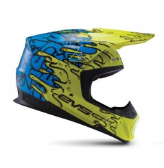 Casque Cross EVS T5 Ecto Hiviz Yellow Blue