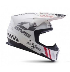 Casque Cross EVS T5 Fury Matte White